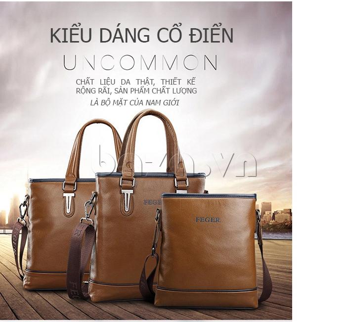 Túi xách nam thương gia Feger 951-2 - cổ điển mà hiện đại