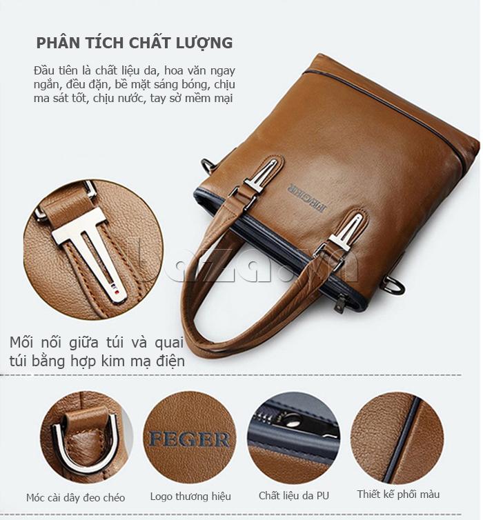 Túi xách nam thương gia Feger 951-2 - bền đẹp, tiện dụng