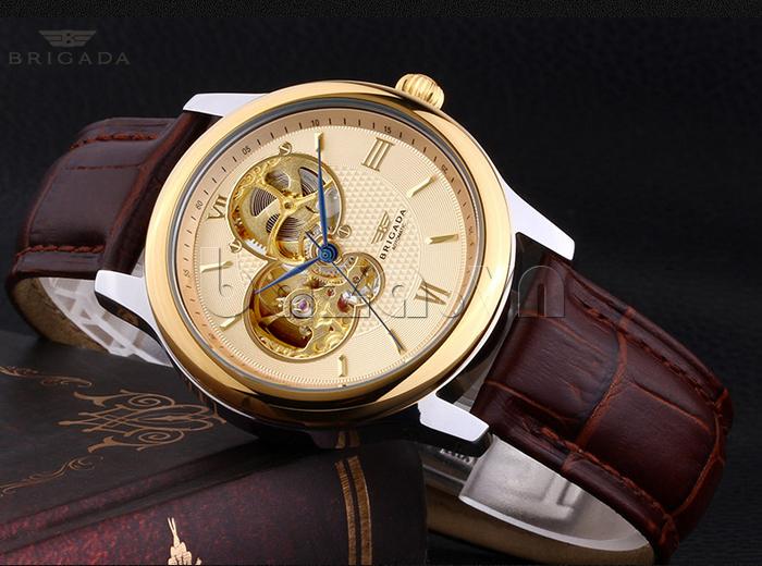 Đồng hồ nam Brigada 6006 thiết kế mặt tròn ấn tượng
