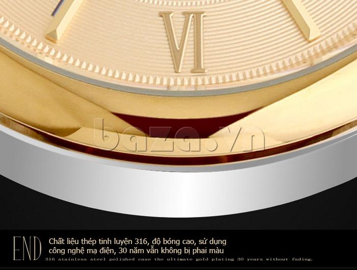 Đồng hồ nam Brigada 6006 thiết kế mặt tròn chính hãng