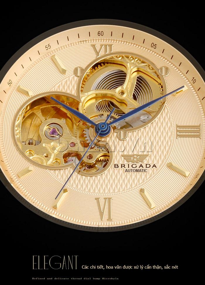 Đồng hồ nam Brigada 6006 thiết kế mặt tròn chất lượng