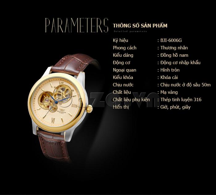 Đồng hồ nam Brigada 6006 chính hãng