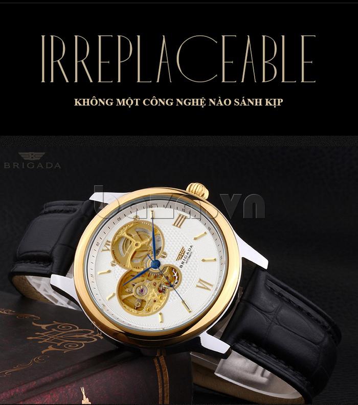 Đồng hồ nam Brigada 6006 thiết kế mặt tròn thời trang