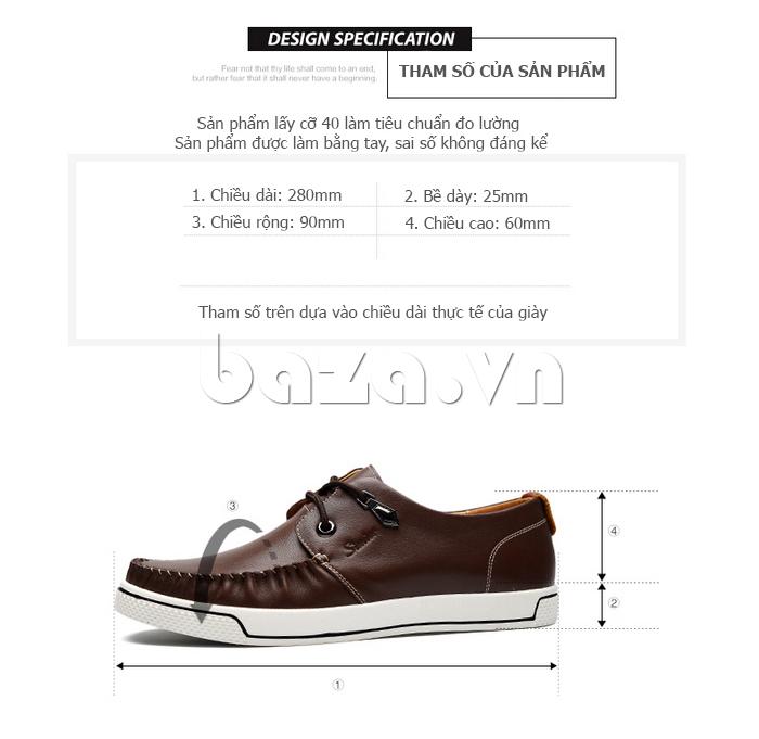 Giày da nam Simier 8116 - ôm sát chân