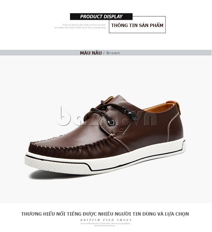 Giày da nam Simier 8116 phong cách thời thượng