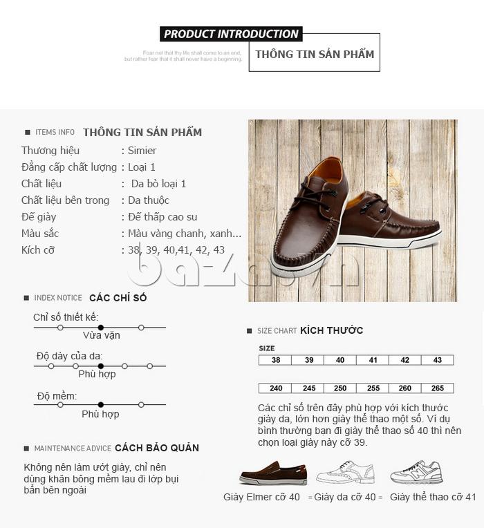 Thông tin sản phẩm Giày da nam Simier 8116