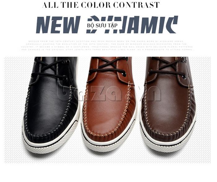 Giày da nam Simier 8116 thẩm định phong cách