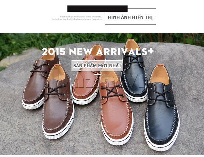 Giày da nam Simier 8116 xu hướng thời trang mới