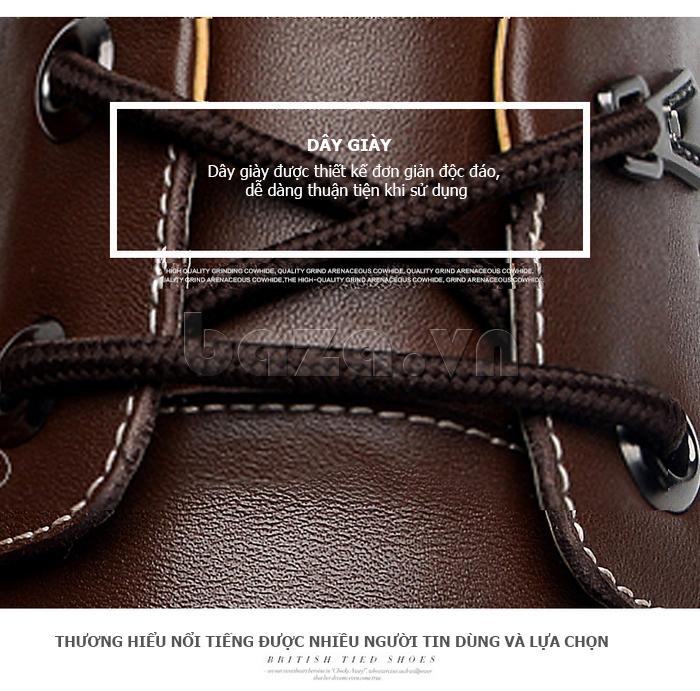Giày da nam Simier 8116 - dây giày chắc bền
