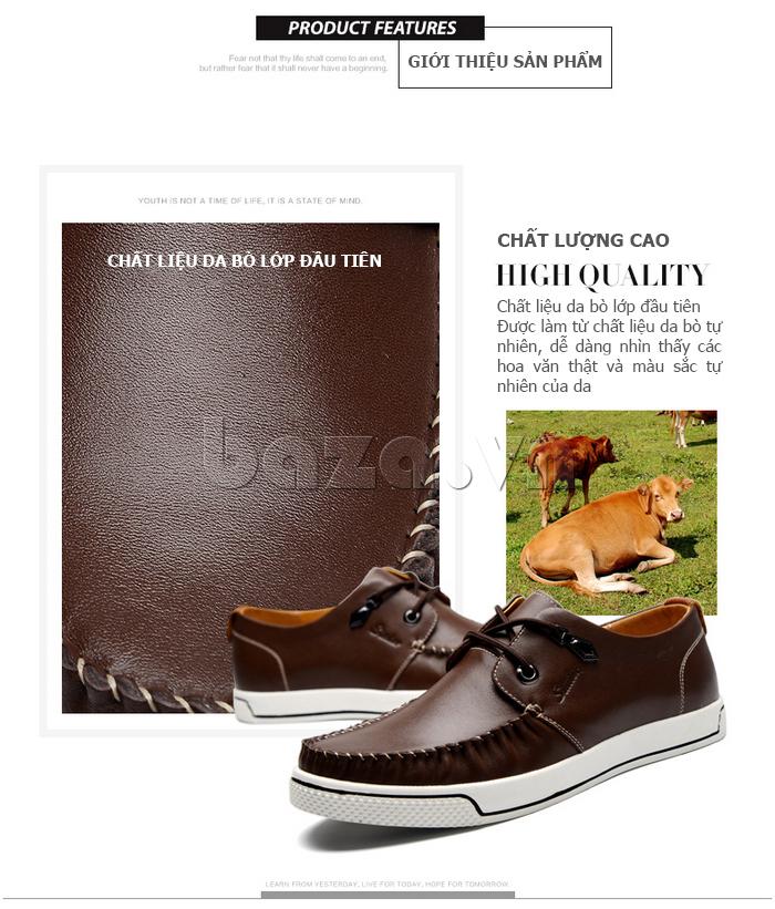 Giày da nam Simier 8116 - da bò nguyên chất