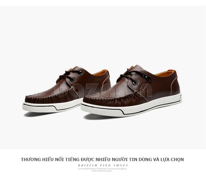 Giày da nam Simier 8116 phong cách trẻ trung