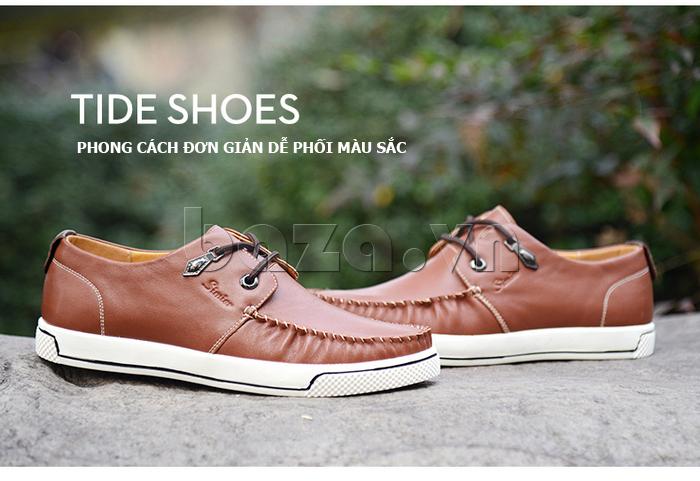 Giày da nam Simier 8116 - thiết kế đơn giản