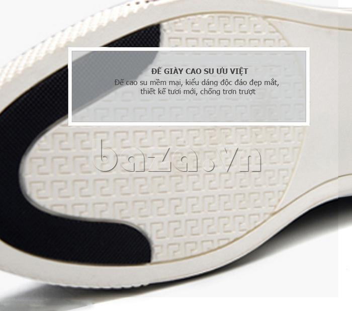 Giày da nam Simier 8116 - đế cao su ưu việt