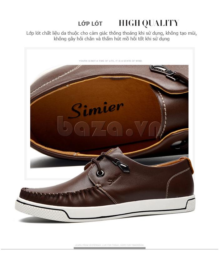 Giày da nam Simier 8116 - lớp lót hoàn hảo