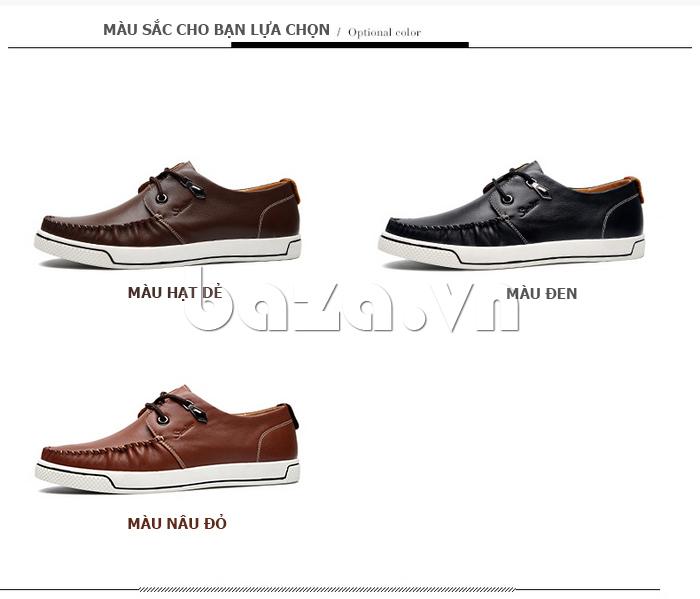 Giày da nam Simier 8116 gam màu cá tính