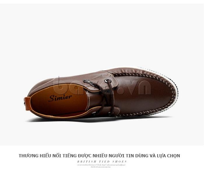 Giày da nam Simier 8116 xu hướng trẻ trung