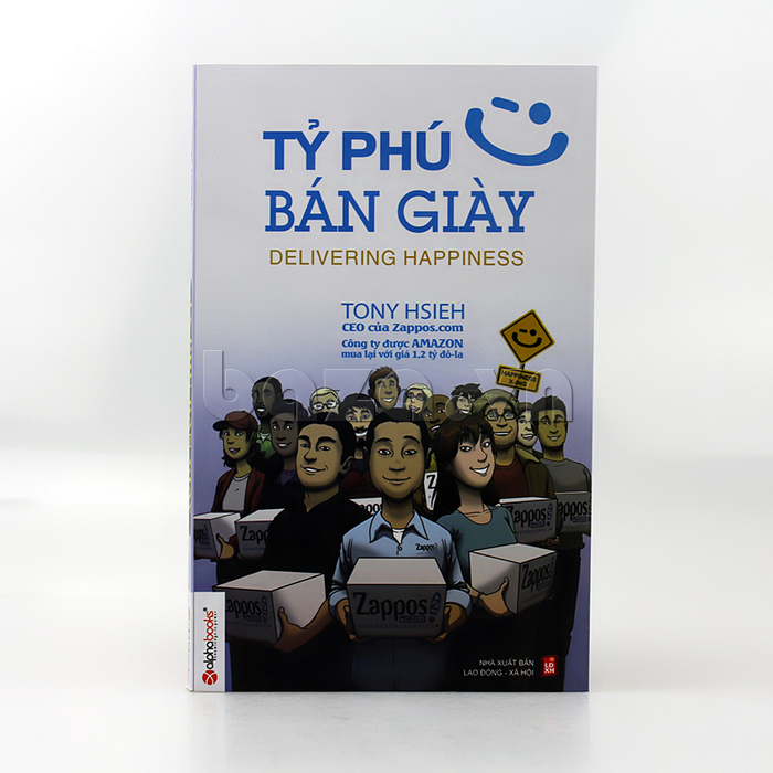 """Sách bán hàng marketing """" tỷ phú bán giày""""  Tony Hsieh"""