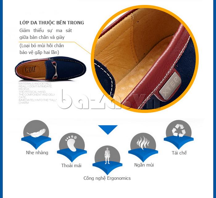 Giày lười nam thời trang Anh quốc CDD D531