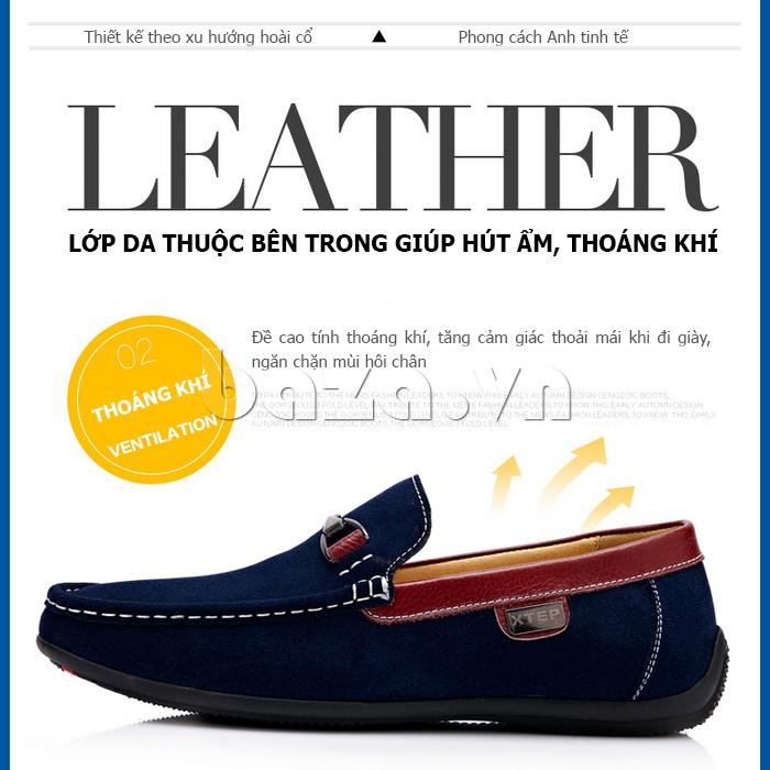 Giày lười nam phong cách Anh CDD D531