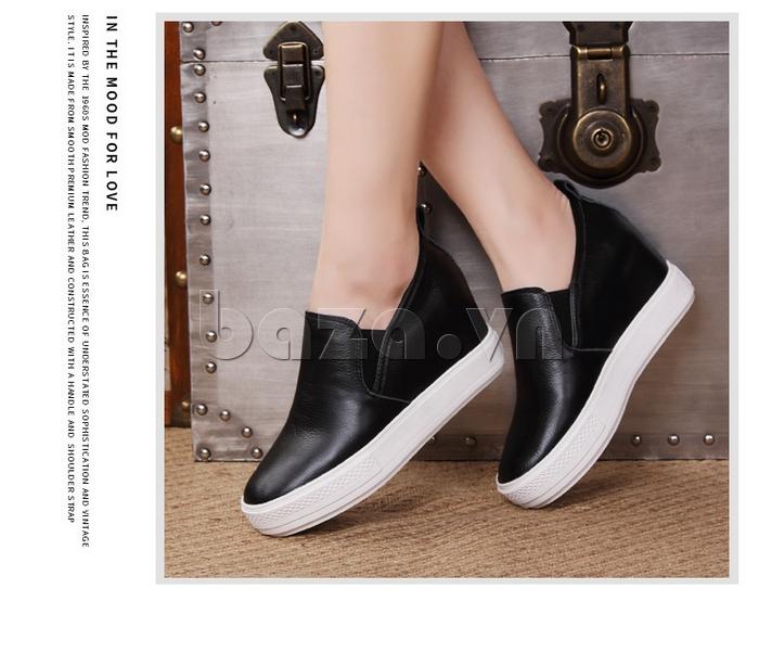 Giày slip-on nữ đế cao trẻ trung Acesc 1752 tinh tế