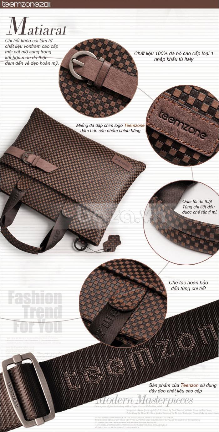 Túi da nam thời trang Teemzone T0531 đẹp và hot