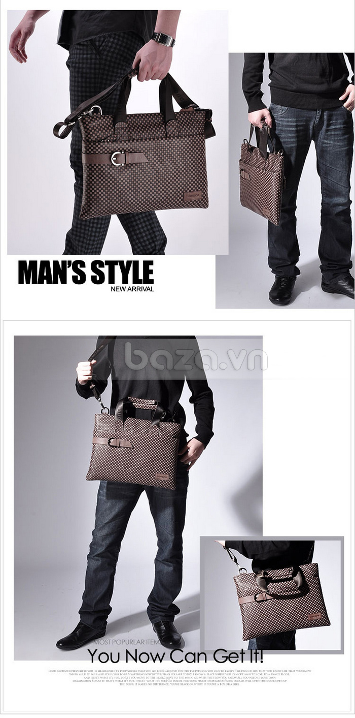 Túi da nam thời trang Teemzone T0531 sang trọng