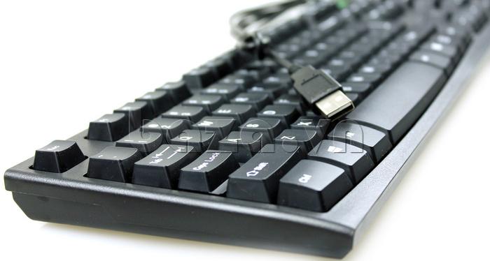 Bàn phím có dây Fuhlen L411 thiết kế giao tiếp cổng cho USB