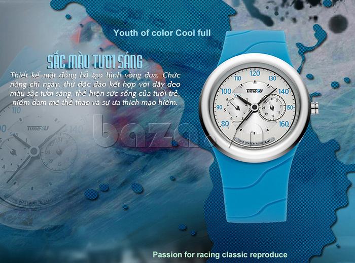 Đồng hồ thời trang Time2U sắc màu tươi sáng