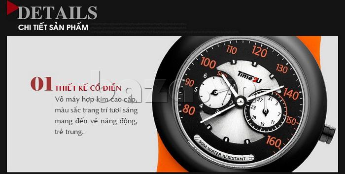 Đồng hồ thời trang Time2U thiết kế cổ điển
