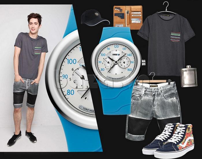 Đồng hồ thời trang Time2U phối đồ thời trang