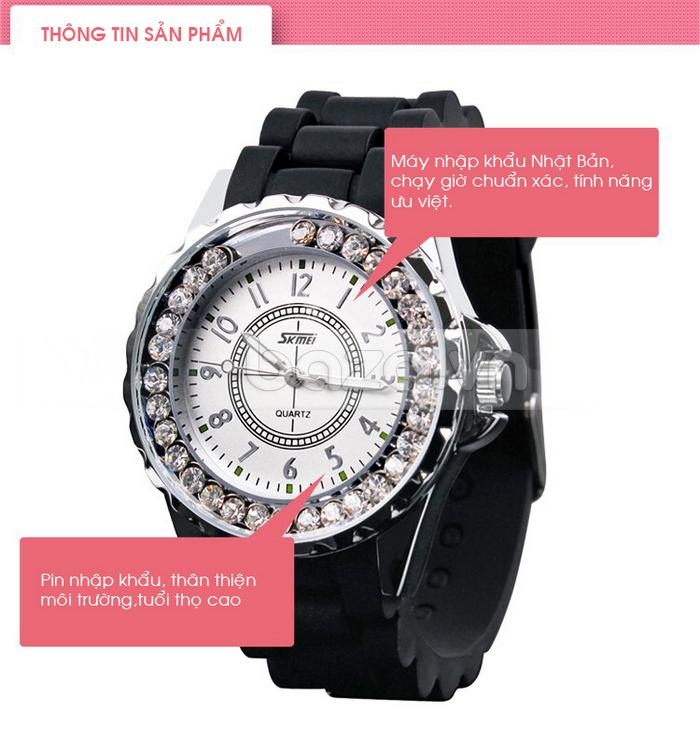 Thông tin sản phẩm của Đồng hồ nữ Skmei 0991