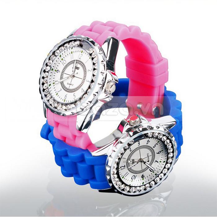 Baza.vn:  Đồng hồ nữ Skmei 0991 viền đính cườm sáng bóng