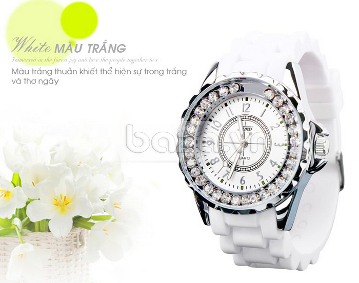 Đồng hồ nữ Skmei 0991 màu trắng