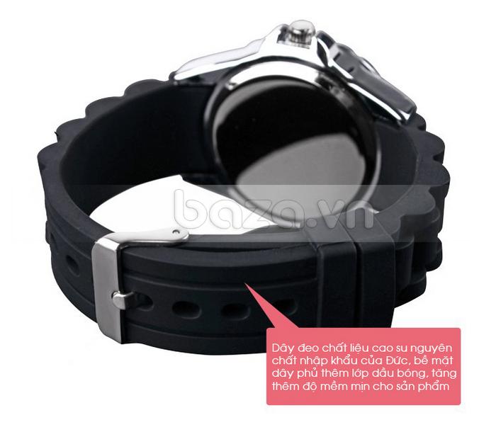 Đồng hồ nữ Skmei 0991 dây cao su mềm mại