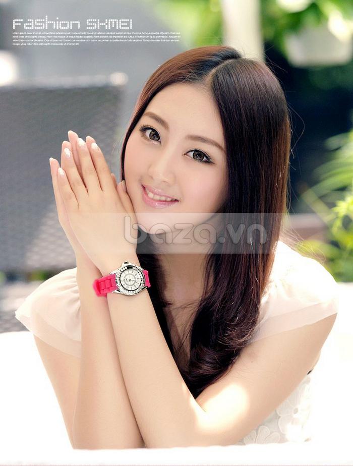 Baza.vn:  Đồng hồ nữ Skmei 0991 sang trọng