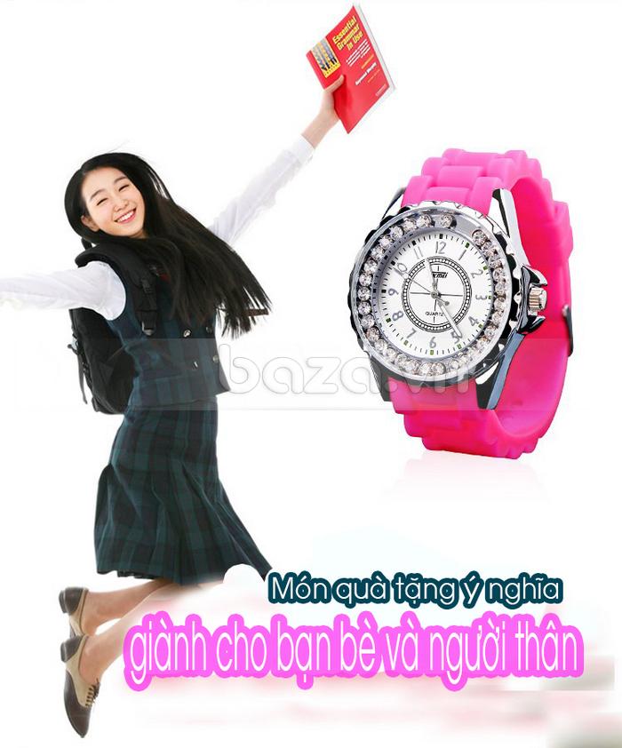 Đồng hồ nữ Skmei 0991 dây đeo màu sắc
