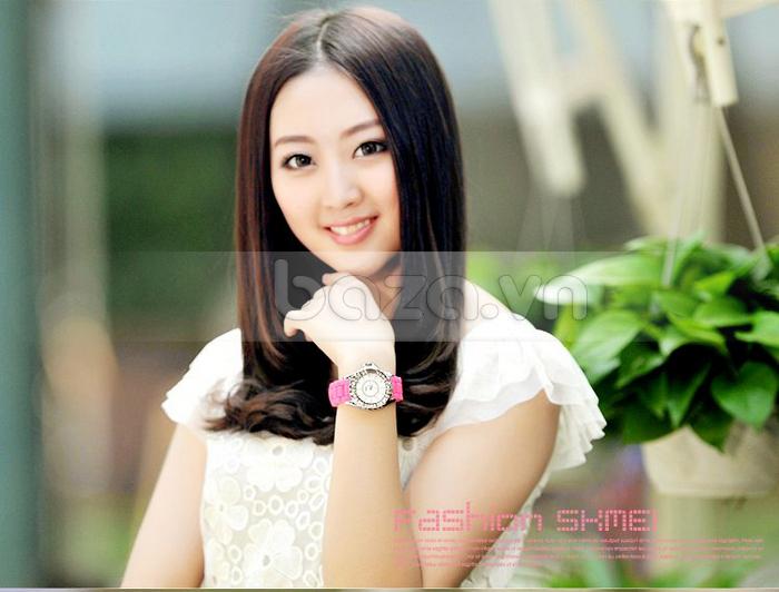 Baza.vn:  Đồng hồ nữ Skmei 0991 màu sắc sang trọng