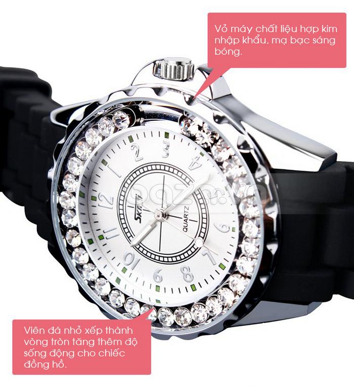 Đồng hồ nữ Skmei 0991 vỏ máy chất liệu hợp kim