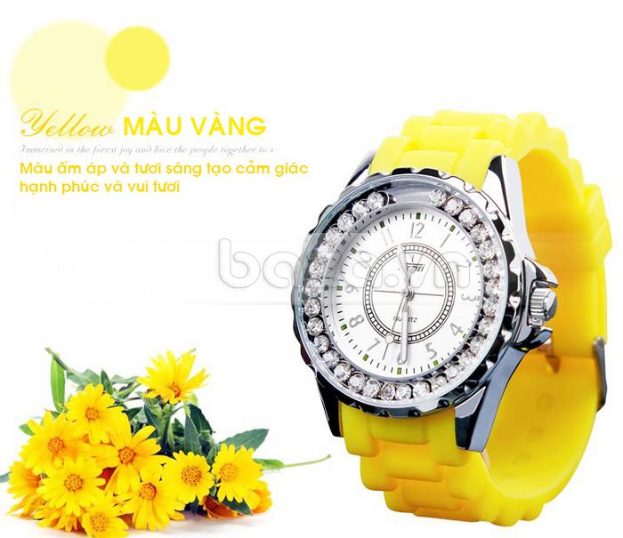 Đồng hồ nữ Skmei 0991 màu vàng