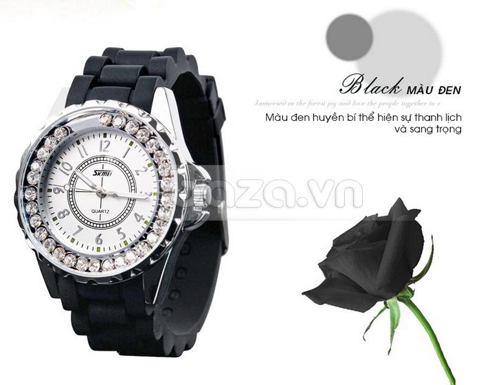 Đồng hồ nữ Skmei 0991 màu đen