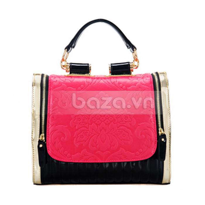 Baza.vn: Túi xách nữ Binnitu phong cách Hàn Quốc màu hồng dịu ngọt