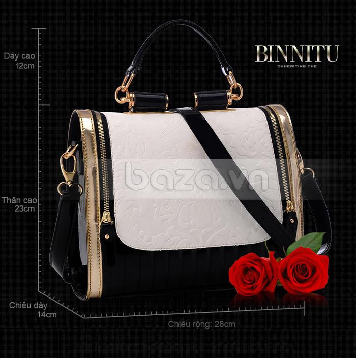 Baza.vn: Túi xách nữ Binnitu phong cách Hàn Quốc nguyên liệu nhập khẩu