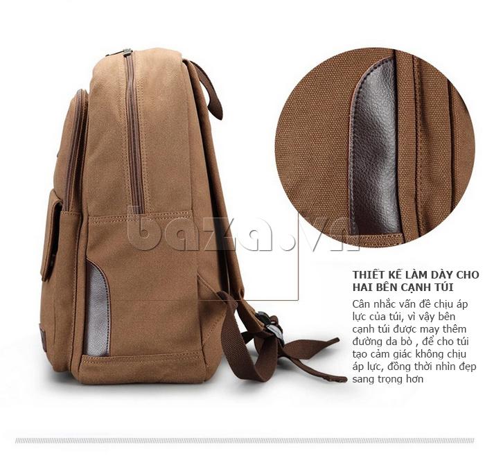 balo đa năng Buweisi S052 thiết kế làm dày cho hai cạnh túi
