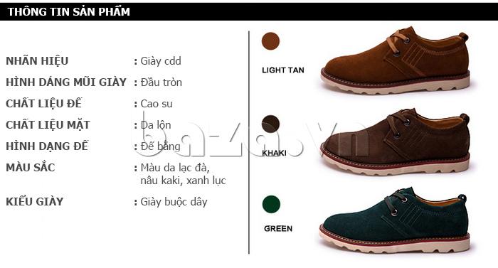 thông tin sản phẩm của giày nam CDD 233