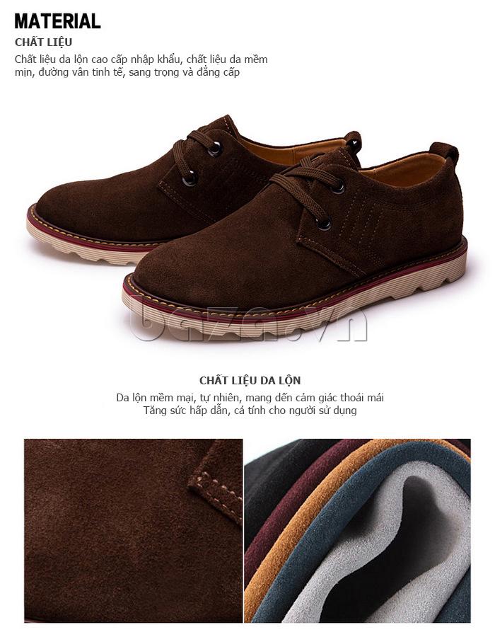giày nam CDD 233 chất liệu da lộn cao cấp