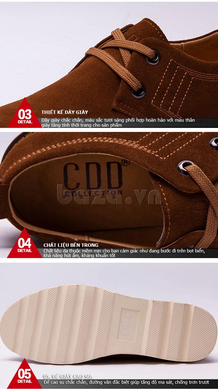 đế giày nam CDD 233 làm từ cao su tự nhiên