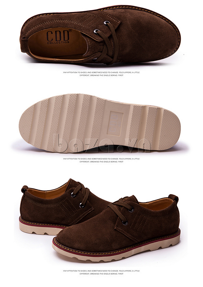 giày nam CDD 233 màu nâu ấm áp