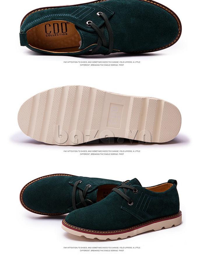 kiểu dáng của giày nam CDD 233 trẻ trung