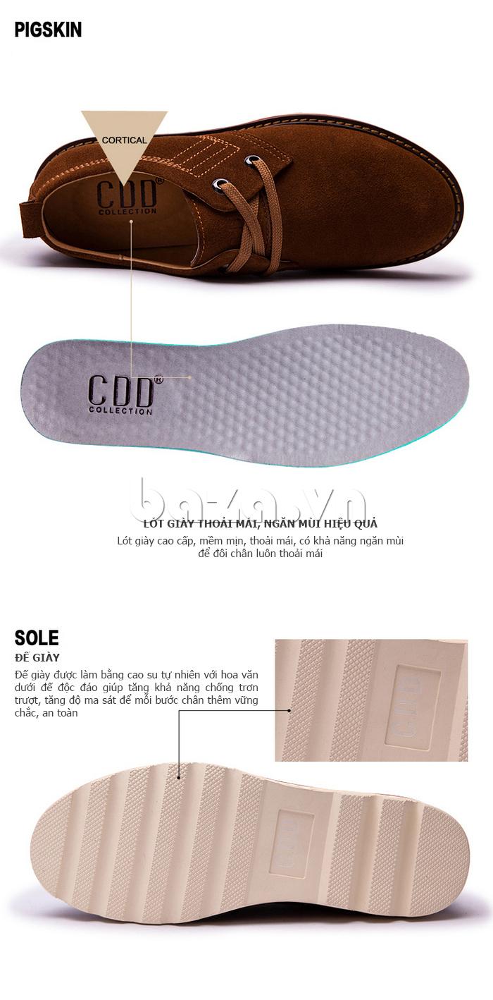Hoa văn dưới đế giày tăng tính bám trơn