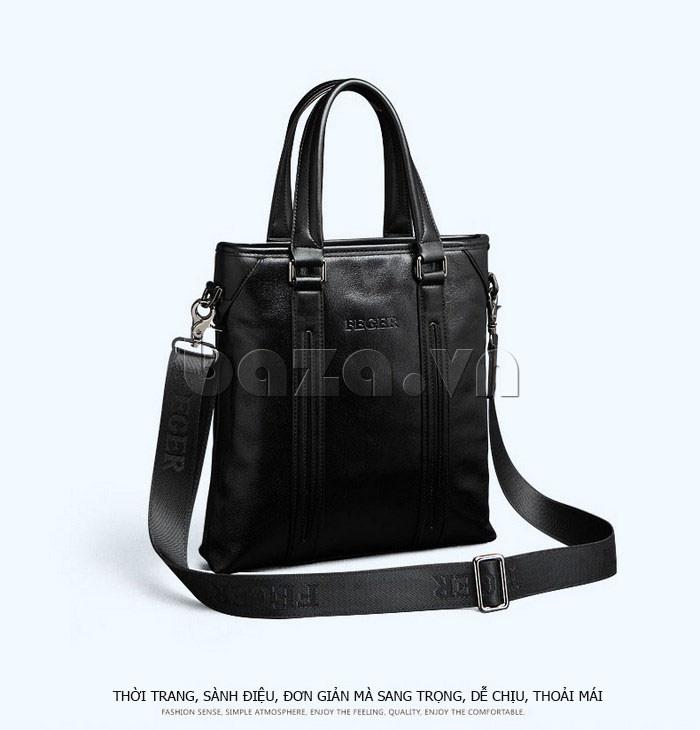 Túi da nam Feger 901-2 thời trang